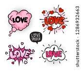 love four speech bubbles set... | Shutterstock .eps vector #1286932663