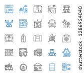 delivery icons set. collection... | Shutterstock .eps vector #1286934040