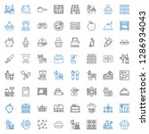 cooking icons set. collection...   Shutterstock .eps vector #1286934043