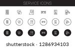service icons set. collection...
