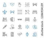 medical icons set. collection... | Shutterstock .eps vector #1286934139