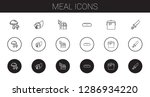 meal icons set. collection of... | Shutterstock .eps vector #1286934220