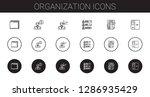 organization icons set.... | Shutterstock .eps vector #1286935429