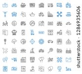 transport icons set. collection ... | Shutterstock .eps vector #1286935606