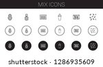 mix icons set. collection of... | Shutterstock .eps vector #1286935609