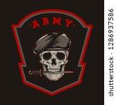 millitary skull army vector | Shutterstock .eps vector #1286937586