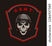 millitary skull army vector | Shutterstock .eps vector #1286937589