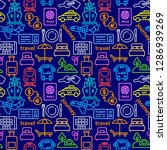 travel colorful seamles pattern ... | Shutterstock .eps vector #1286939269