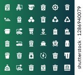 conservation icon set.... | Shutterstock .eps vector #1286940079