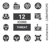 threat icon set. collection of... | Shutterstock .eps vector #1286940190