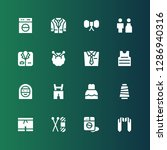 dress icon set. collection of... | Shutterstock .eps vector #1286940316