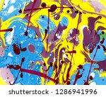 abstract marbling  ebru style...   Shutterstock . vector #1286941996