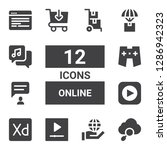online icon set. collection of...