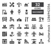 machinery icon set. collection... | Shutterstock .eps vector #1286942356