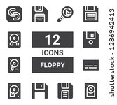 floppy icon set. collection of...   Shutterstock .eps vector #1286942413