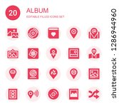 album icon set. collection of... | Shutterstock .eps vector #1286944960