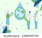 colorful modern flat cartoon... | Shutterstock .eps vector #1286945743