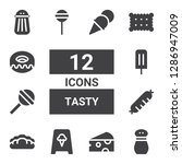 tasty icon set. collection of... | Shutterstock .eps vector #1286947009