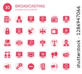 broadcasting icon set.... | Shutterstock .eps vector #1286947066