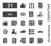 yes icon set. collection of 21... | Shutterstock .eps vector #1286947069