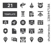 template icon set. collection...