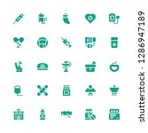 clinic icon set. collection of... | Shutterstock .eps vector #1286947189