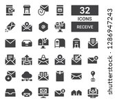 receive icon set. collection of ... | Shutterstock .eps vector #1286947243