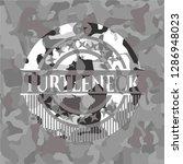turtleneck on grey camouflaged... | Shutterstock .eps vector #1286948023