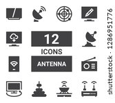 antenna icon set. collection of ... | Shutterstock .eps vector #1286951776