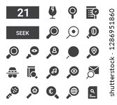 seek icon set. collection of 21 ... | Shutterstock .eps vector #1286951860