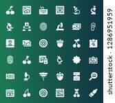 macro icon set. collection of... | Shutterstock .eps vector #1286951959