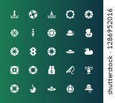 float icon set. collection of... | Shutterstock .eps vector #1286952016