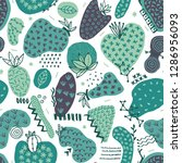 vector seamless pattern with... | Shutterstock .eps vector #1286956093
