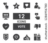 vote icon set. collection of 12 ... | Shutterstock .eps vector #1286956780