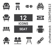 seat icon set. collection of 12 ... | Shutterstock .eps vector #1286956813