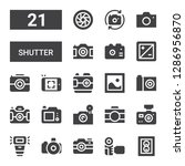 shutter icon set. collection of ... | Shutterstock .eps vector #1286956870