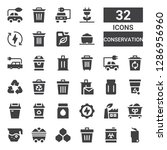 conservation icon set.... | Shutterstock .eps vector #1286956960