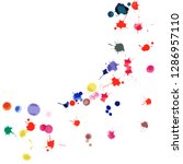 watercolor confetti on white... | Shutterstock .eps vector #1286957110