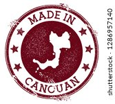 made in canouan stamp. grunge... | Shutterstock .eps vector #1286957140