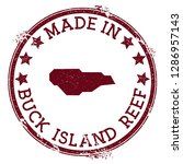 made in buck island reef stamp. ... | Shutterstock .eps vector #1286957143