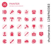 painter icon set. collection of ... | Shutterstock .eps vector #1286960383
