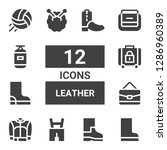 leather icon set. collection of ... | Shutterstock .eps vector #1286960389