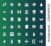 fighter icon set. collection of ...   Shutterstock .eps vector #1286960410