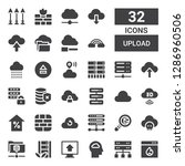 upload icon set. collection of... | Shutterstock .eps vector #1286960506