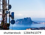 telecommunication antennas in... | Shutterstock . vector #1286961079