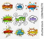 comic sound speech bubble... | Shutterstock .eps vector #1286968270