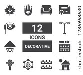 decorative icon set. collection ...   Shutterstock .eps vector #1286968630