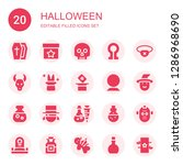 halloween icon set. collection... | Shutterstock .eps vector #1286968690
