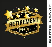 happy retirement party banner... | Shutterstock .eps vector #1286980549