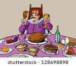eat like a king | Shutterstock .eps vector #128698898